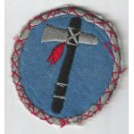 WWII 19th Corps Light Blue Background French Made Patch