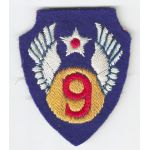 WWII English Made 9th Air Force Patch