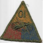 WWII 10th Armor Division Greenback Patch