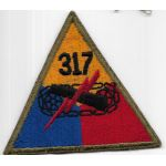 WWII 317th Tank Battalion Patch