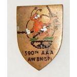 WWII - Occupation 390th Anti-Aircraft Artillery Battalion Theatre Made DI
