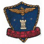 1950's US Navy 24,000 Carrier Landings USS Bataan Squadron Patch