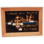Vietnam Era 509th ASA / Radio Research Unit Every Man A Tiger Velvet Painting