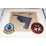 First B-2 Bomber Crew Signed Photo & Patches