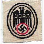 WWII German DDAC Automobile Club Pennant / Shirt Patch
