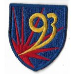 WWII 93rd Chemical Mortar Battalion Patch