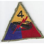 WWII Occupation - Late 1940's 4th Armor Division Theatre Made Patch
