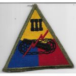 WWII 3rd / III Armored Corps Patch