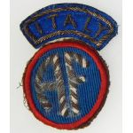 WWII Italian Made Allied Forces Italy Bullion Patch Set