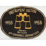 1950's 10th Ordnance Company Instrument Section Back Patch