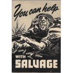 WWII You Can Help With Salvage Pamphlet Printed By Coca-Cola