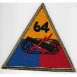 WWII 64th Tank Battalion Patch