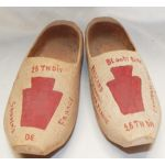 WWII 28th Division Painted Wooden Shoes