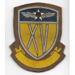 WWII AAF 15th Air Force Early Style Leather Patch