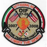 Operation Iraqi Freedom 35h Signal Battalion 2007-2008 Theatre Made Patch