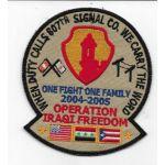 OIF 807th Signal Company Operation Iraqi Freedom 2004-2205 Patch