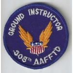 WWII 308th AAF Flight Training Detachment Ground Instructor CPT Patch