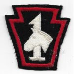 WWII  1st Mounted Regiment Pennsylvania State Guard Patch