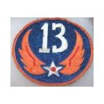 13th Air Force Philippine Made  Squadron  Patch