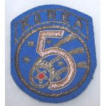 5th Air Force Korea Bullion Patch