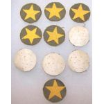 Lot Of Ten NOS Japanese Army Cloth Field Cap Stars
