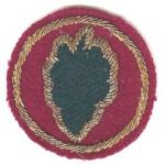 24th Division Theatre Made Bullion Patch