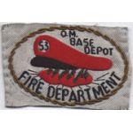 53rd Quartermaster Base Depot Fire Department Bullion Patch