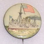 USS Maine Celluloid Button
