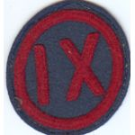 1920's-1930's 9th Corps Patch