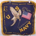 USS Louisiana Silk & Wool  Patriotic Pillowcase