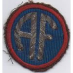 ASMIC WWII-Occupation Period Italian Made Bullion Allied Forces Patch