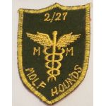 2nd Battalion 27th Infantry Medical WOLFHOUNDS  Pocket Patch Vietnam