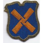 ASMIC WWII 12th Corps OD Bordered Greenback Patch