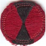 7th Division Theatre Made Scarf Size Patch