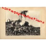 WWII Japanese Propaganda Photo Of Flame Throwers