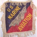 Marine Corps Aviation Silk & Wool  Patriotic Pillowcase