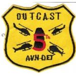 5th Aviation Detachment OUTCAST Pocket Patch  Vietnam