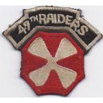 Korean War 8th Army 47th Raiders Patch