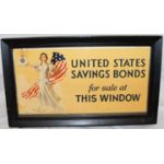 Celluloid United States Savings Bond Sign