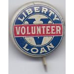 Fifth Liberty Loan Volunteer Celluloid Pinback Button