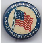 Peace And Preparedness Celluloid Pinback Button