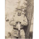 Japanese WWII Era Army NCO Holding Sword Photo