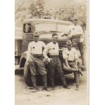 WWII Era Japanese Army Truck Drivers Photo