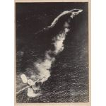 WWII Japanese Propaganda Photo Of Attacking British Battleship