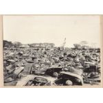 WWII Japanese Propaganda Photo Of Destroyed Allied Vehicles